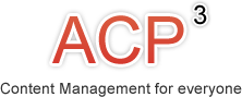 ACP3 - Content Management for everyone